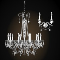 Italamp collezione 262 263 classic chandelier and wall lamp